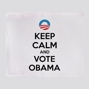 Keep calm and vote obama Throw Blanket