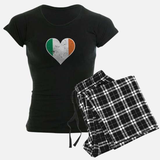Distressed Irish Flag Heart Pajamas