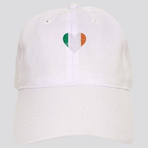 Distressed Irish Flag Heart Baseball Cap