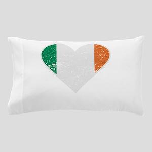 Distressed Irish Flag Heart Pillow Case