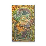 Maya Book of the Dead Sticker (Rectangle 10 pk)