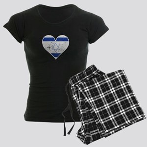 Distressed Israeli Flag Heart Pajamas