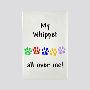 Whippet Walks Rectangle Magnet