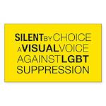 SilentRect Sticker (Rectangle 10 pk)