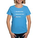 Political Parties Women's Dark T-Shirt