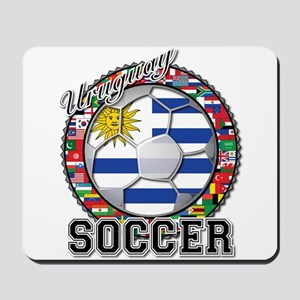 Uruguay Flag World Cup Soccer Ball with World Flag