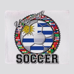 Uruguay Flag World Cup Soccer Ball with World Fla