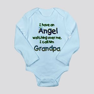 I HAVE AN ANGEL GRANDPA Long Sleeve Infant Bod