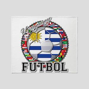 Uruguay Flag World Cup Futbol Ball with World Fla