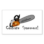 castrate_spam_5x2 Sticker (Rectangle 10 pk)