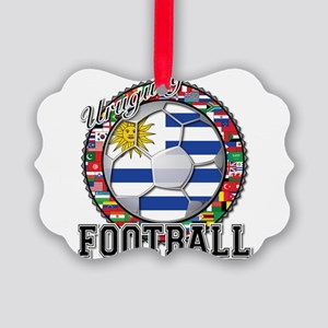 Uruguay Flag World Cup Football Ball with World Fl