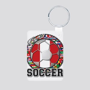 Peru Flag World Cup Soccer Ball with World Flags A