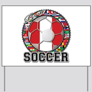 Peru Flag World Cup Soccer Ball with World Flags Y