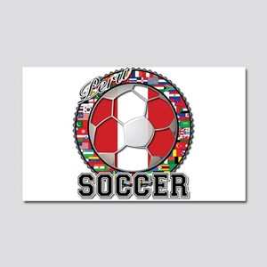 Peru Flag World Cup Soccer Ball with World Flags C