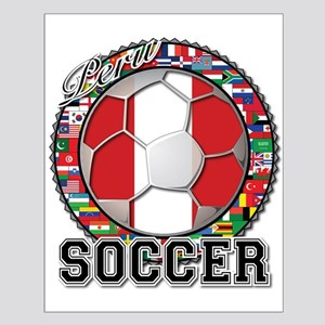 Peru Flag World Cup Soccer Ball with World Flags S
