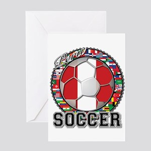 Peru Flag World Cup Soccer Ball with World Flags G