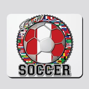 Peru Flag World Cup Soccer Ball with World Flags M