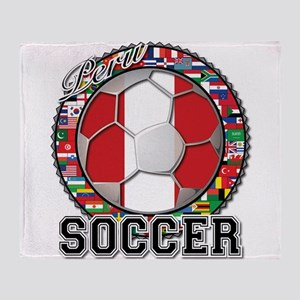 Peru Flag World Cup Soccer Ball with World Flags
