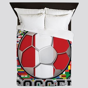 Peru Flag World Cup Soccer Ball with World Flags Q