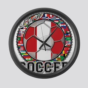 Peru Flag World Cup Soccer Ball with World Flags L