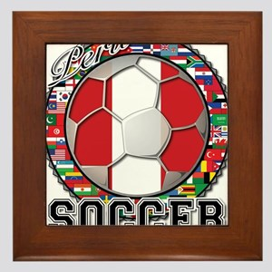 Peru Flag World Cup Soccer Ball with World Flags F