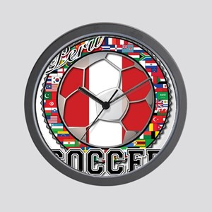 Peru Flag World Cup Soccer Ball with World Flags W