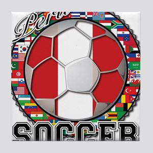 Peru Flag World Cup Soccer Ball with World Flags T