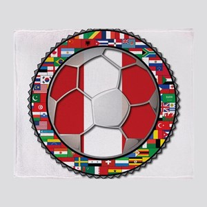 Peru Flag World Cup Futbol Soccer Football Ball w