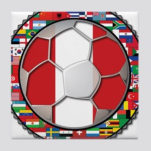 Peru Flag World Cup Futbol Soccer Football Ball wi