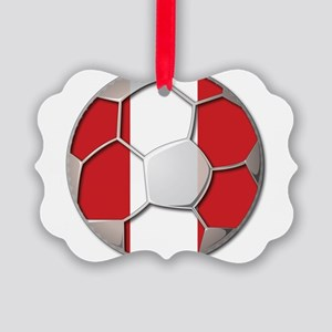 Peru Flag World Cup Futbol Soccer Football Ball Pi