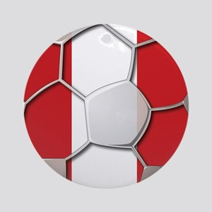 Peru Flag World Cup Futbol Soccer Football Ball Or