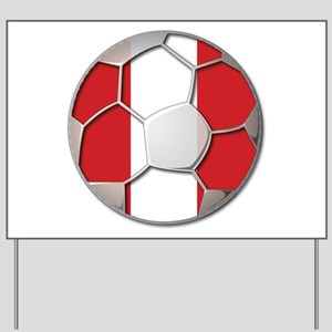 Peru Flag World Cup Futbol Soccer Football Ball Ya