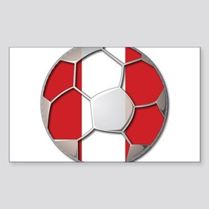 Peru Flag World Cup Futbol Soccer Football Ball St