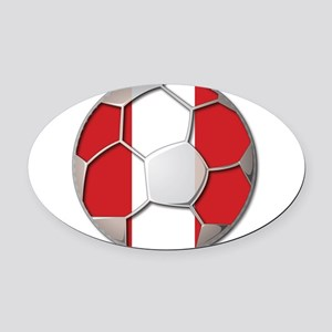 Peru Flag World Cup Futbol Soccer Football Ball Ov