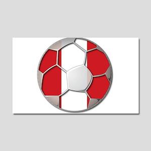 Peru Flag World Cup Futbol Soccer Football Ball Ca