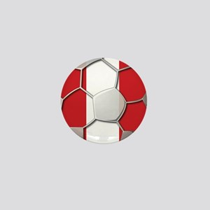 Peru Flag World Cup Futbol Soccer Football Ball Mi