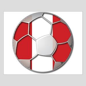 Peru Flag World Cup Futbol Soccer Football Ball Sm