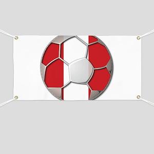 Peru Flag World Cup Futbol Soccer Football Ball Ba