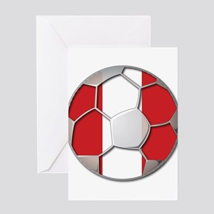 Peru Flag World Cup Futbol Soccer Football Ball Gr