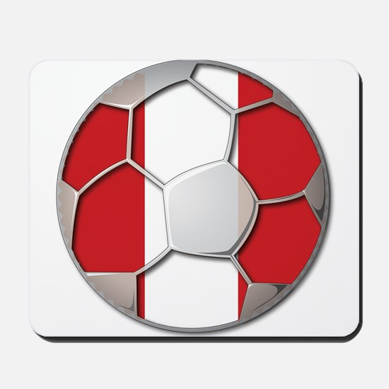 Peru Flag World Cup Futbol Soccer Football Ball Mo