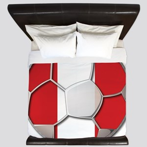 Peru Flag World Cup Futbol Soccer Football Ball Ki
