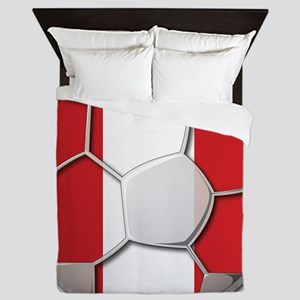 Peru Flag World Cup Futbol Soccer Football Ball Qu