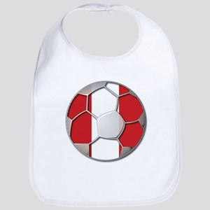 Peru Flag World Cup Futbol Soccer Football Ball Bi