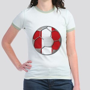 Peru Flag World Cup Futbol Soccer Football Ball Jr