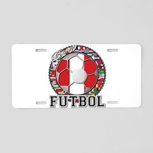 Peru Flag World Cup Futbol Ball with World Flags A