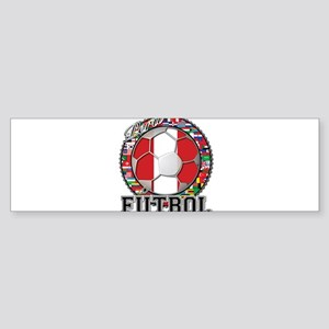 Peru Flag World Cup Futbol Ball with World Flags S