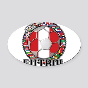 Peru Flag World Cup Futbol Ball with World Flags O