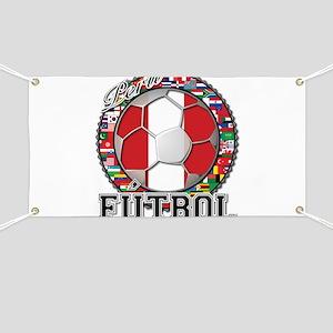 Peru Flag World Cup Futbol Ball with World Flags B