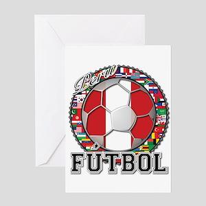 Peru Flag World Cup Futbol Ball with World Flags G