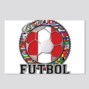 Peru Flag World Cup Futbol Ball with World Flags P